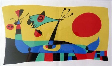 Lithograph Miró - Joan Miró Jacques Prévert et Ribemont-