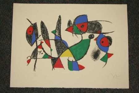 Lithograph Miró - Joan Miro Lithographs Ii  Plate 10