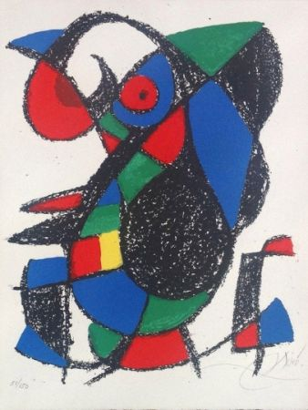 Lithograph Miró - Joan Miro Original lithograph, Pencil Signed & numbered 51 / 150