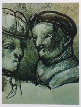 Lithograph Cuevas - Joan Prats 1982