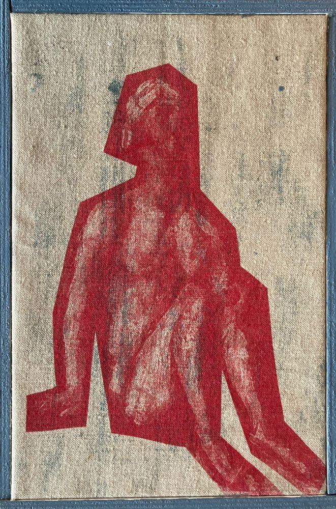 Screenprint Buraglio - Job, avec Cézanne, 2006