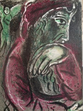 Lithograph Chagall - Job désespéré