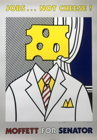 Lithograph Lichtenstein - Jobs... Not Cheese (Hand Signed)
