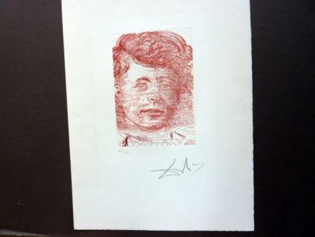 Etching Dali - John Kennedy (Famous Men Portfolio)