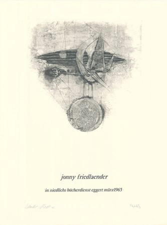 Etching And Aquatint Friedlaender - Jonny Friedlaender in niedlichs bücherdienst eggert märz 1965