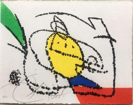 Illustrated Book Miró - Jordi de Sant Jordi : CHANSON DES CONTRAIRES. Une gravure signée de Joan Miró (1976).