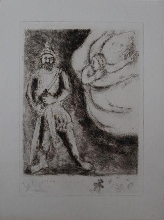 Etching Chagall - Josué armé par l'éternel #RARE SECOND STATE