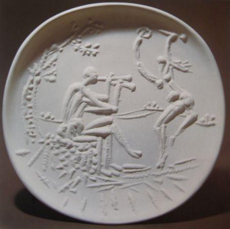 Ceramic Picasso - Joueur de diaule et faune