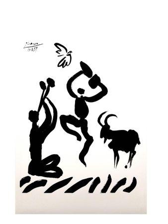 Lithograph Picasso (After) - Joueur de Flûte
