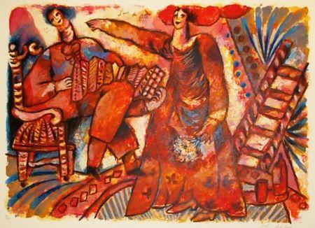 Lithograph Tobiasse - Jour de fête