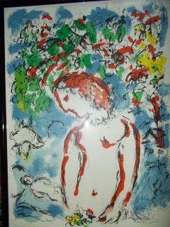 Lithograph Chagall - Jour de printemps