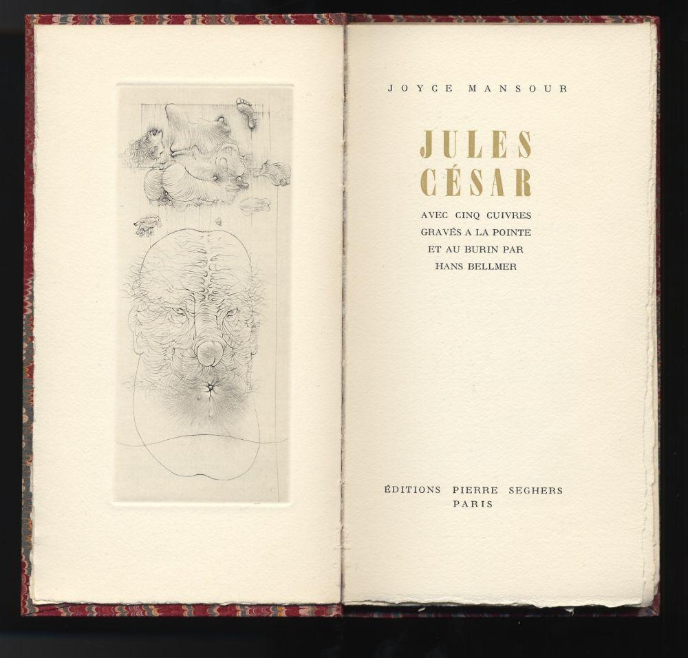 Illustrated Book Bellmer - Joyce Mansour : JULES CÉSAR. Avec 5 gravures de Hans Bellmer (1955).