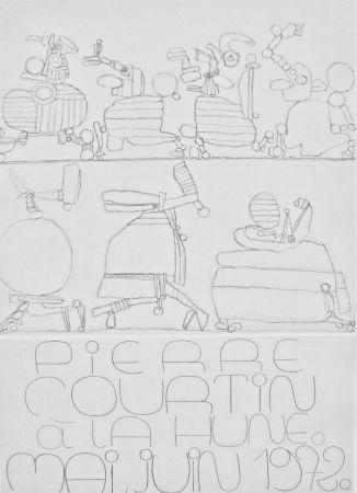 Etching Courtin - Jubilé de Mars : affiche pour La Hune