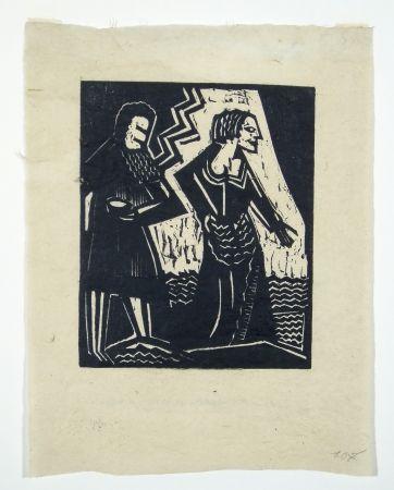 Woodcut Achmann - Judith und Holofernes II