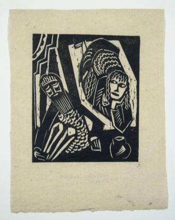 Woodcut Achmann - Judith und Holofernes III