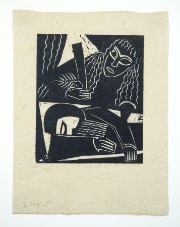 Woodcut Achmann - Judith und Holofernes IV