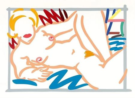 Screenprint Wesselmann - Judy on a Blue Blanket