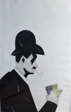 Engraving Valdés - Jugador de cartas