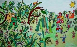 Lithograph De Saint Phalle - Jungle