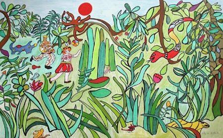 Lithograph De Saint Phalle - Jungle 2