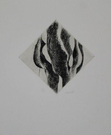 Etching Cimiotti - Körper-Landschaft-Komposition / Body-Landscape-Composition