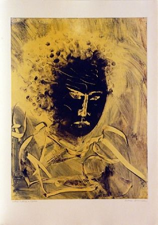 Monotype Secunda - Kabuki  in Black and Yellow
