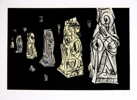 Lithograph Saura - Kafka - Tagebücher VIII