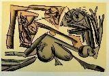 Lithograph Saura - Kafka 10