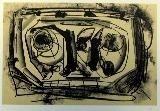 Lithograph Saura - Kafka 8