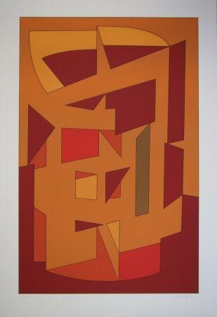 Lithograph Vasarely - KALLION - Gordes-Cristal periode