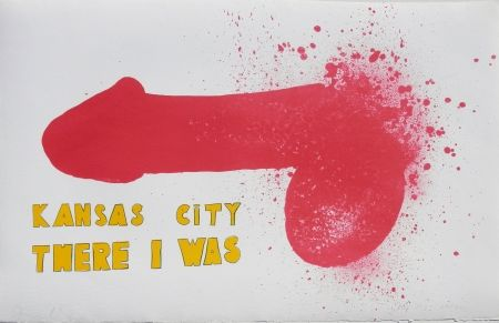 Lithograph Dine - Kansas City There I Was (1970)