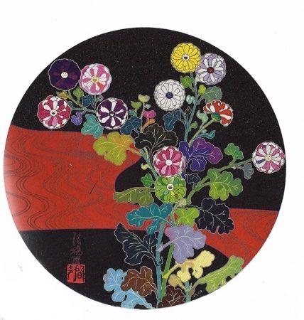 Lithograph Murakami - Kansei Korin Red Stream