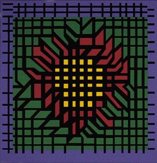 Lithograph Vasarely - Kat-Zag