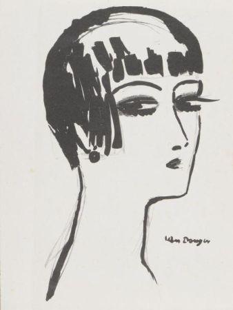 Lithograph Van Dongen - Kees Van Dongen(1877-1968) Les cheveux courts , 1924