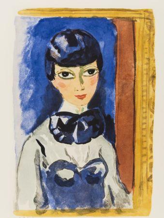 Lithograph Van Dongen - Kees Van DONGEN (1877-1968). Claudine, circa 1950. Lithographie signée.