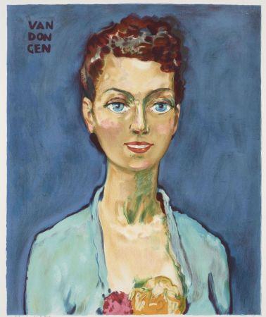 Lithograph Van Dongen - Kees van Dongen (1877-1968). Hommage à Marie-Claire. Lithographie signée.