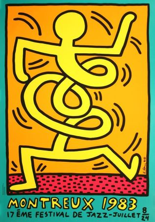 Screenprint Haring - Keith Haring 'Montreux Jazz Festival III' 1983 Plate Signed Original Pop Art Poster