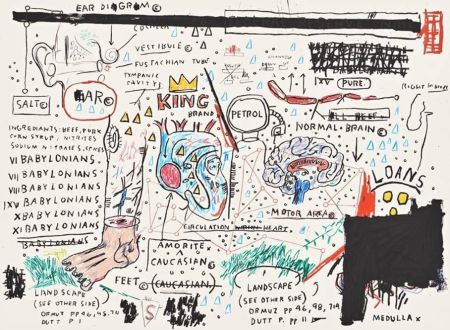 Screenprint Basquiat - King Brand