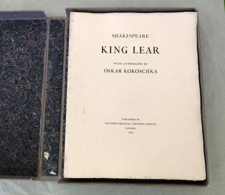 Lithograph Kokoschka - King Lear