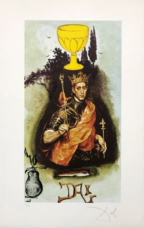 Lithograph Dali - KING OF CUPS