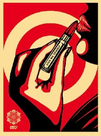 Screenprint Fairey - Kiss Me Deadly Red