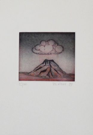 Etching And Aquatint Franke - Kleiner Berg / Little Mountain