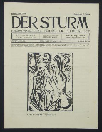 Woodcut Stoermer - Knieender Mann (Kneeling Man)