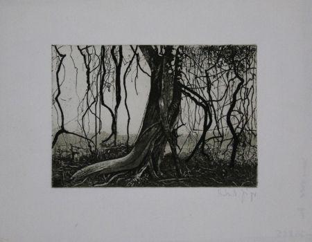 Etching And Aquatint Jäger - Knorriger Baum / Gnarled Tree