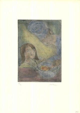 Etching And Aquatint Wittmann - Koch und Mädchen
