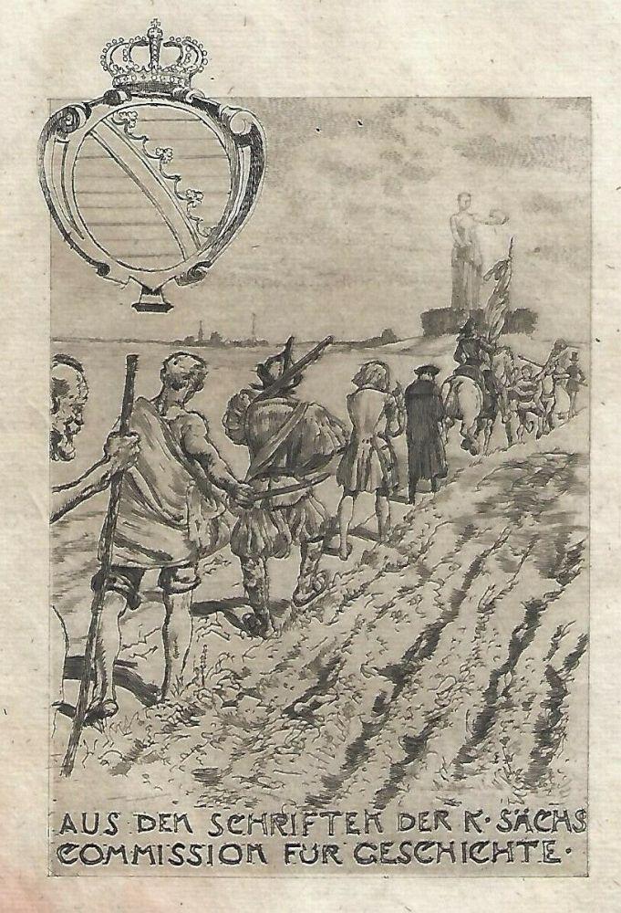 Etching And Aquatint Klinger - Kollektiv-Titel für Veröffentlichungen der kgl. sächsischen Komission für Geschichte