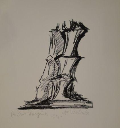 Lithograph Wotruba - Komposition