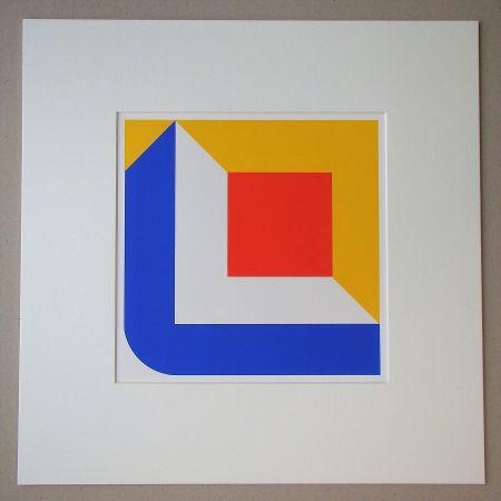 Screenprint Pfahler - Komposition 1968