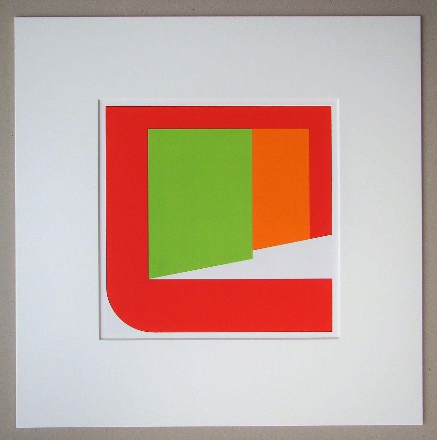 Screenprint Pfahler - Komposition 1969