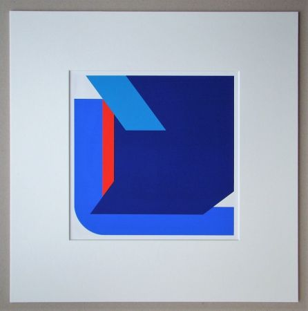 Screenprint Pfahler - Komposition 1975
